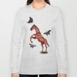 horse and butterfly Long Sleeve T-shirt