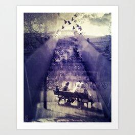 Time passing Art Print
