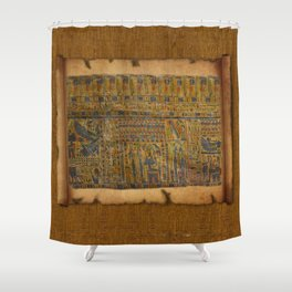 Ancient Egyptian Funerary Scroll pre 944 BC Shower Curtain