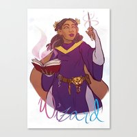 wizard Canvas Prints featuring Wizard by Regina Legaspi