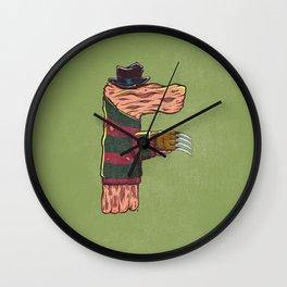 F is for Freddy Wall Clock