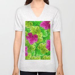 Leaves Unisex V-Neck