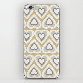 Caramel & Cream Love Hearts In The Spring iPhone Skin