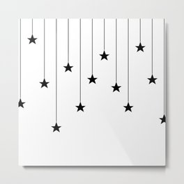 Hang The Stars (In Black and white) Metal Print