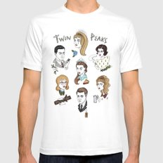 twin peaks cast Mens Fitted Tee White LARGE