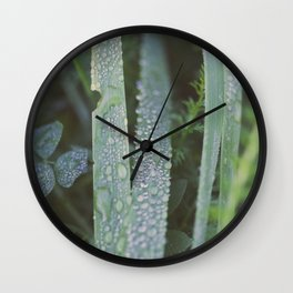 Dew drops Wall Clock