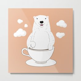 Take a Cup of Bear Metal Print