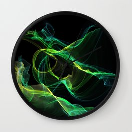 EthereaLightwaves-Green Wall Clock