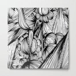bubbles, spikes & flowers Metal Print