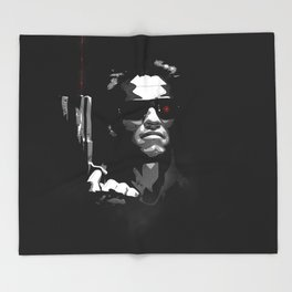 He'll Be Back Terminator Schwarzenegger Throw Blanket