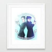 enerjax Framed Art Prints featuring Benedict Cumberbatch as Hamlet x Sherlock by enerjax