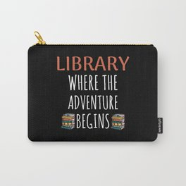 Librarian Gifts Library Book Lover Reading Carry-All Pouch