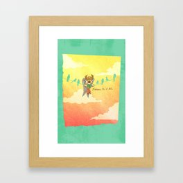 Hawkman - Birdman on a Wire Framed Art Print