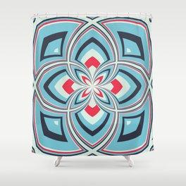 Spiral Rose Pattern B 3/4 Shower Curtain