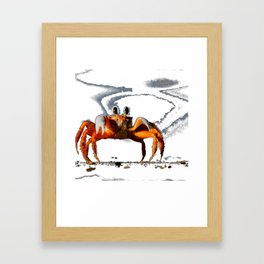 Walking Crab Tshirt Framed Art Print