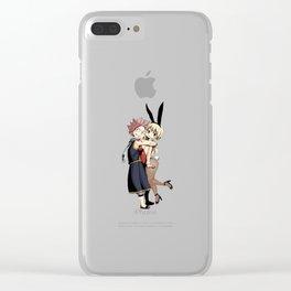 Natsu Hug Lucy aew :* Clear iPhone Case