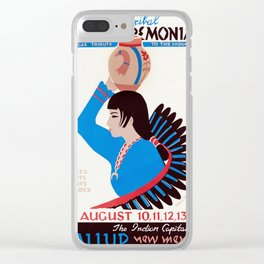 Gallup Inter-Tribal Indian Ceremonial - Vintage Poster Clear iPhone Case