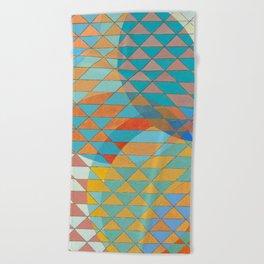 Triangle Pattern No. 11 Circles Beach Towel