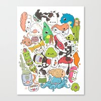 nori Canvas Prints featuring Sushi Bar: Point of Nori-turn by ieIndigoEast