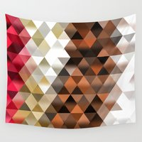 triangle Wall Tapestries featuring Triangle by Susann Mielke