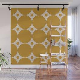 Futura Mid-century Modern Minimalist Abstract Pattern in Mustard Gold Wall Mural