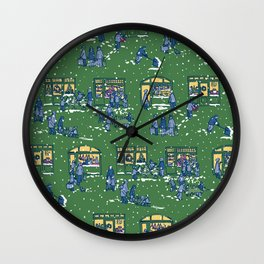 Let's Go Shopping at Night! – Xmas Edition Wall Clock
