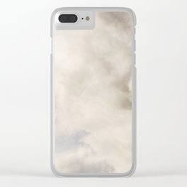 Blue Sky with Gray Clouds Clear iPhone Case