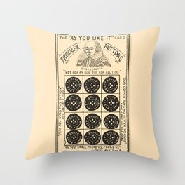 Shakespeare Buttons Vintage Advert Throw Pillow