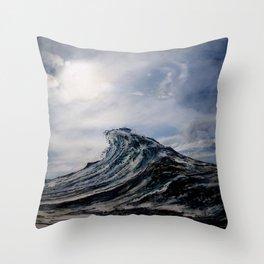 WAVE # 1 - sky Throw Pillow