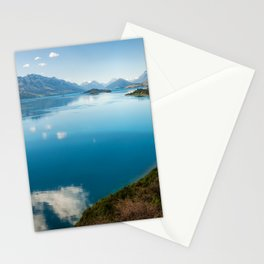 Breathtaking View of Lake Wakatipu in New Zealand Stationery Cards