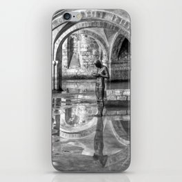 Winchester Cathedral Crypt - Black and White iPhone Skin