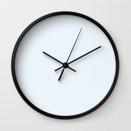 Light Pale Water Blue Simple Solid Color All Over Print Wall Clock