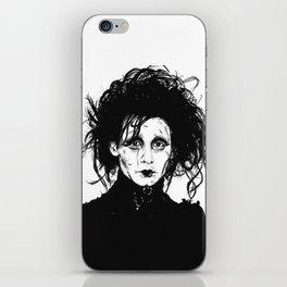 Ed Scissorhands Sketch iPhone Skin