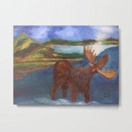 Moose Season Metal Print