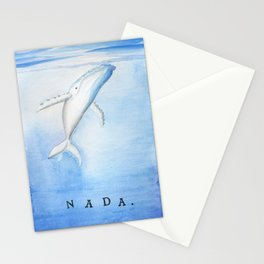 Nada - White Humpback Whale Stationery Cards
