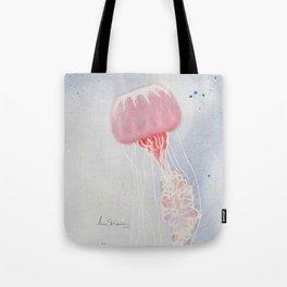 Red Jellyfish Tote Bag