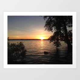 Mosquito Lake Sunset - Cortland, OH Art Print
