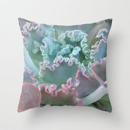 Succulent in the Sand Throw Pillow