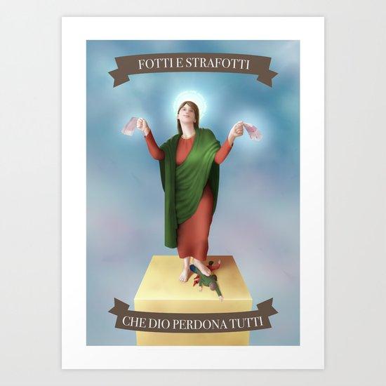 God Forgives Everyone Art Print