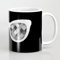 Diamond Eyes White on Black Coffee Mug