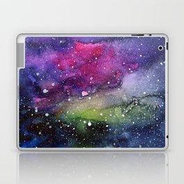 Galaxy Watercolor Night Sky Painting Nebula Art Laptop & iPad Skin