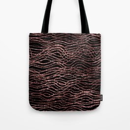sparkling rose waves Tote Bag