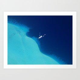 Blue Lagoon Abstract Art Print