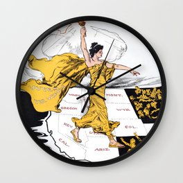 The Awakening - Women's Suffrage Illustration, 1915 Wall Clock