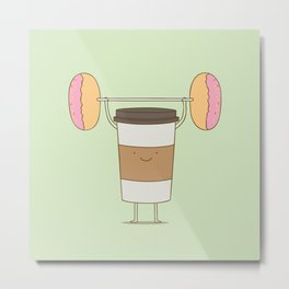 strong coffee workout Metal Print
