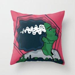 Frankenstein Bride Throw Pillow