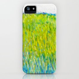 Green Field In May iPhone Case