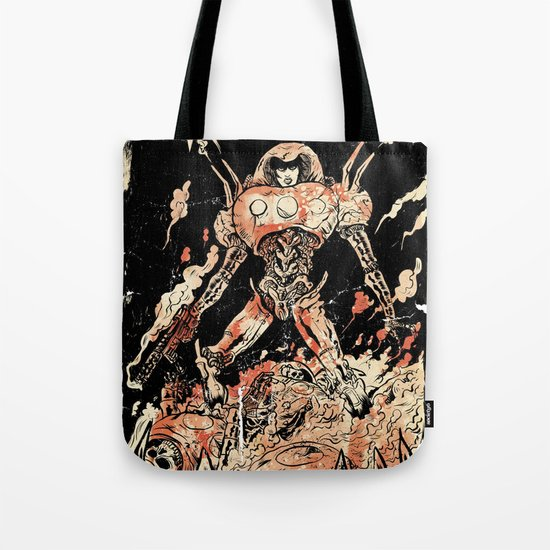 Dogs of Mars pin-up Tote Bag