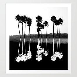Palm Tree Reflection Art Print