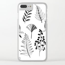 Floral Library Clear iPhone Case